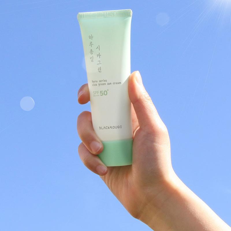 Kem chống nắng tinh chất rau má | Black Rouge Haru Series Cica Green Sun Cream
