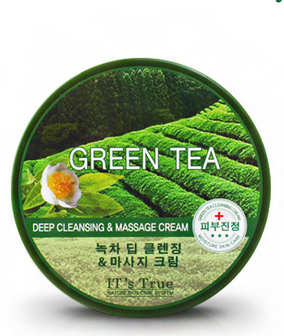 kem massage Cellio It s true Green Tea deep cleansing and massage cream 300ml korean