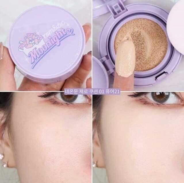 Phấn Nước Romand Zero Cushion Moonight Limited Edition 14g ( Tím )
