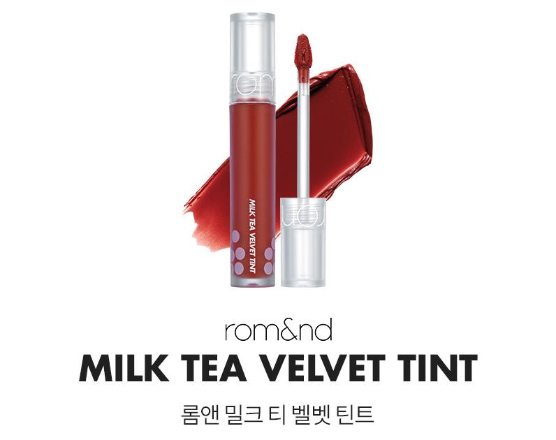 Son Kem Lì, Mịn Phiên Bản Trà Sữa Romand Milk Tea Velvet Tint