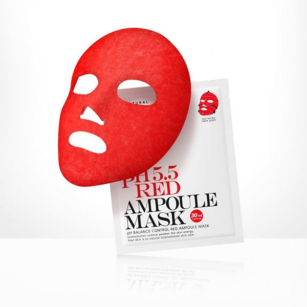 Mặt nạ cân bằng da So Natural pH 5.5 Red Ampoule Mask