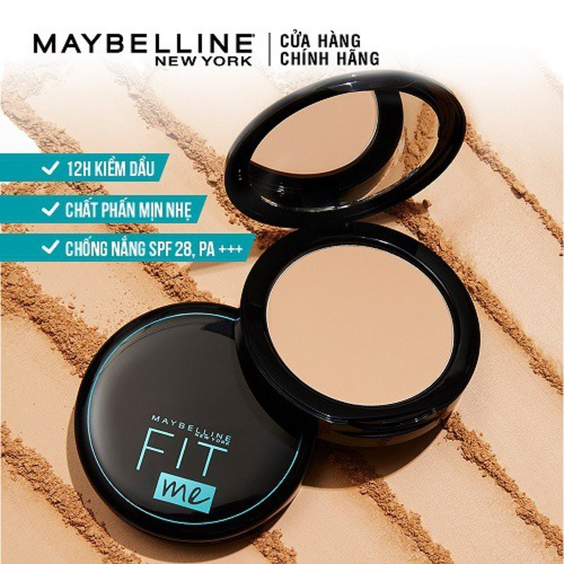 Phấn Phủ Maybelline Fit Me Matte+Poreless Powder 12h SPF 28 PA+++ Oil Control – Tone 109 Light Ivory (6g)