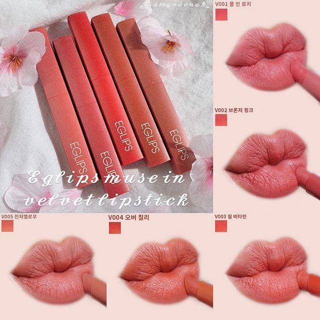 Son Thỏi Lì Siêu Mịn Eglips Muse In Velvet Lipstick