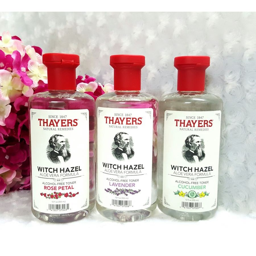 Nước hoa hồng Thayers Alcohol Free Witch Hazel Toner 355ml