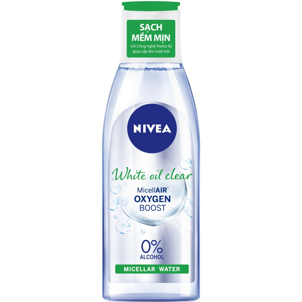 Nước tẩy trang Nivea cho da nhờn White oil control Makeup Clear Micellar Water (200ml)