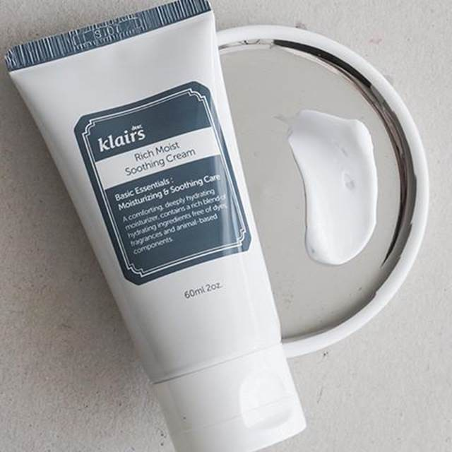 kem dưỡng ẩm klairs rich moist soothing 60ml tuýp