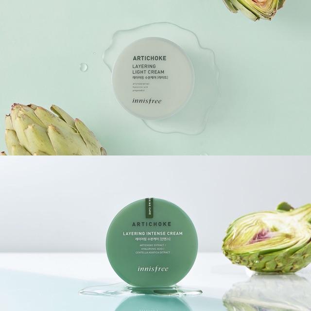 Kem Dưỡng Da Hư Tổn Lão Hóa Innisfree Artichoke Layering Intense Cream 150ml``