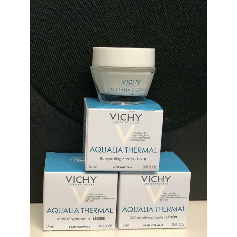 gel dưỡng ẩm Vichy Aqualia Thermal Gel Cream 15ml ( hủ xanh )