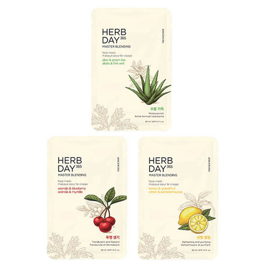 Mặt Nạ Giấy The Face Shop 365 Herb Day Master Blending