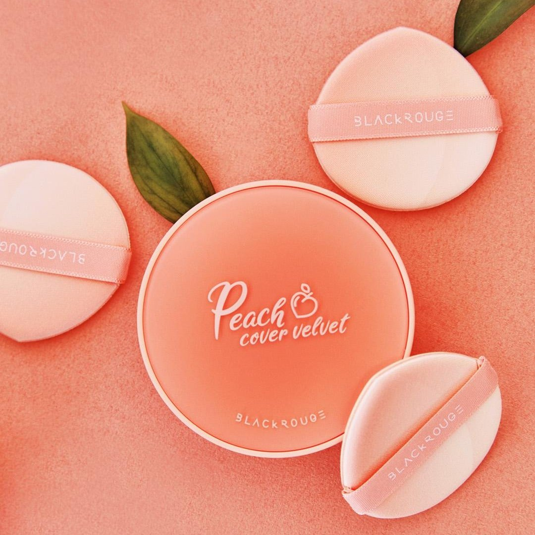 Phấn Nước Trái Đào Black Rouge Peach Cover Velvet Cushion