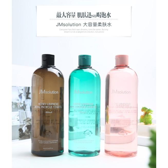 Nước Hoa Hồng Cấp Ẩm Dịu Mát Làn Da JM Solution Luminous Toner XL 600ml (3 màu)