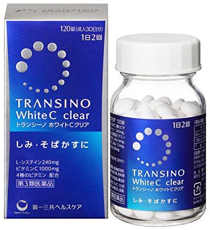 Viên uống Trắng Da Transino White C Clear 120 viên