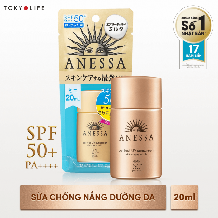 Chống nắng Anessa Perfect UV Milk 20ml