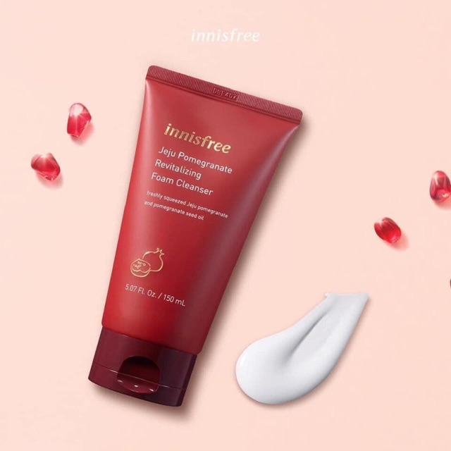 sữa rửa mặt jeju pomegranate revitalizing foam cleanser innisfree