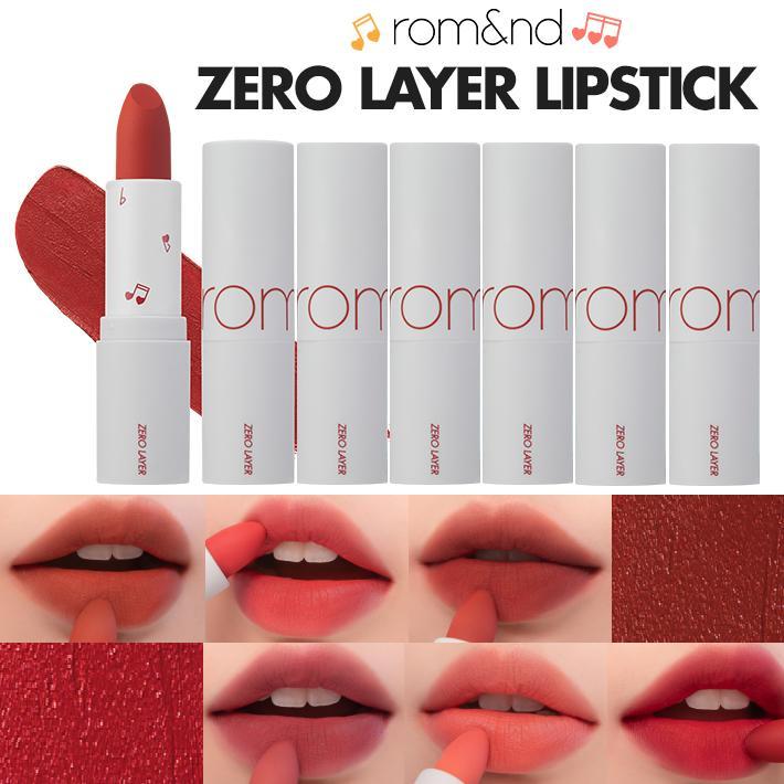 Son Thỏi Lì, Lâu Trôi , Lên Màu Chuẩn Romand Zero Layer Lipstick 3.8g New 2019