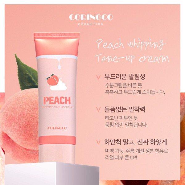 Kem Dưỡng Trắng Trái Đào Coringco Peach Whipping Tone Up Cream