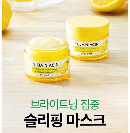 Mặt Nạ Ngủ Dưỡng Trắng Some By Mi Yuja Niacin 30 Days Miracle Brightening Sleeping Mask