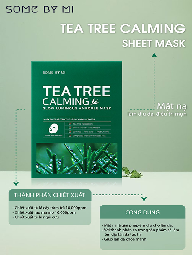 Mặt nạ dành cho da mụn Some By Mi Tea Tree Calming Sheet Mask 25g