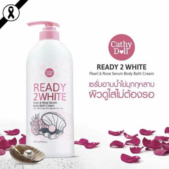 Sữa tắm trắng da ready 2 white pearl rose serum 500ml