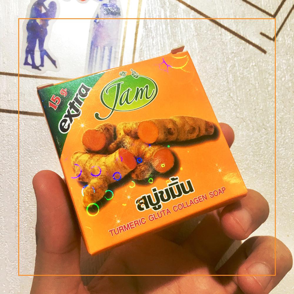 Xà phòng nghệ JAM Turmeric Gluta Collagen Soap Thái Lan