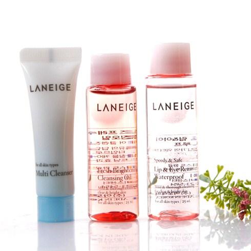 Bộ kit tẩy trang siêu sạch laneige cleansing trial kit 3 món (mini size)