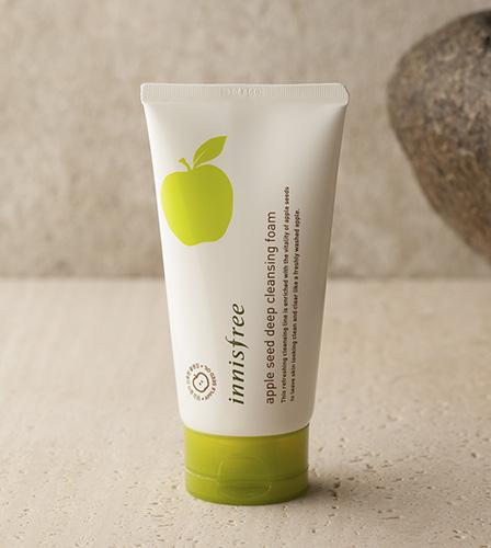 Sữa rửa mặt làm sạch sâu Innisfree Apple Seed Deep Cleansing Foam 10 ml và 150ml