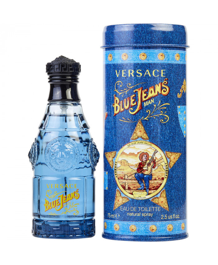 versace blue jeans men 75ml EDT (Xanh)