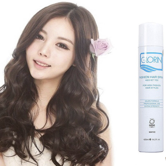 keo xịt tóc Glorin fashion hair spray 420ml (trắng - mềm)