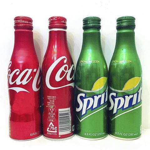 nước ngọt coca và sprite chai nhôm