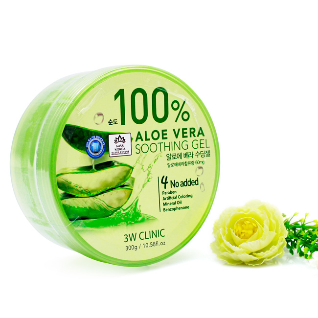 Gel Lô Hội 3W Clinic 100% Aloe Vera Soothing Gel (300g)