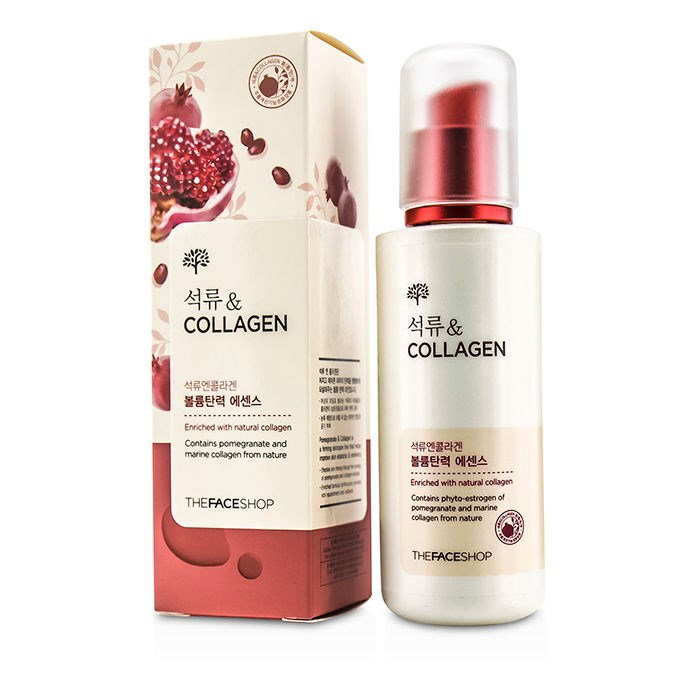 Nước hoa hồng Pomegranate And Collagen Volume Lifting Toner TheFaceShop