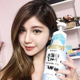 sữa tắm dưỡng trắng  hokkaido milk Thailan 700ml