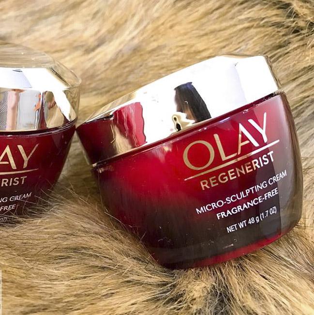 Kem dưỡng ẩm chống lão hóa Olay Regenerist Micro Sculpting Cream Fragrance Free 48g (mỹ)