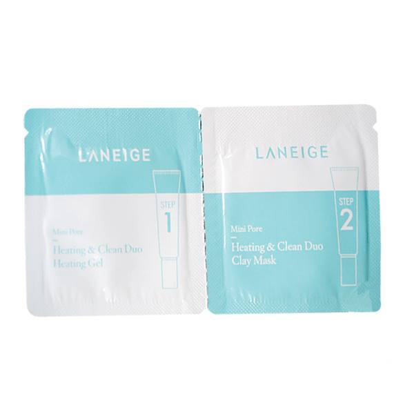 Sample Laneige Mini Pore Heating & Clean Duo 2 Steps Laneige