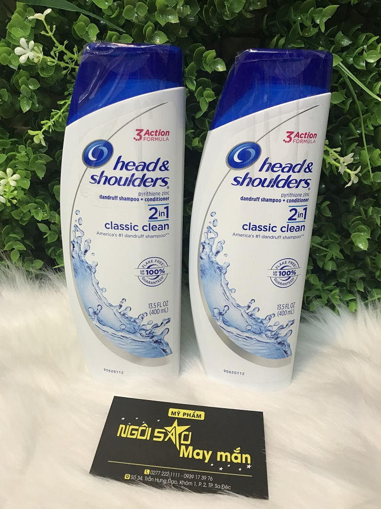 Dầu Gội Và Xả Head  Shoulders Trị Gàu Clacssic Clean - 400ml (Trắng)