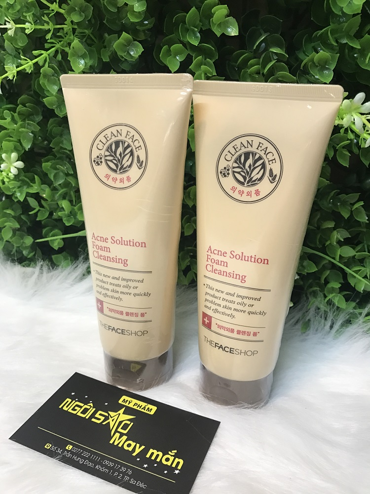 Sữa Rửa Mặt Ngăn Ngừa Mụn CLEAN FACE ACNE SOLUTION FOAM CLEANSING