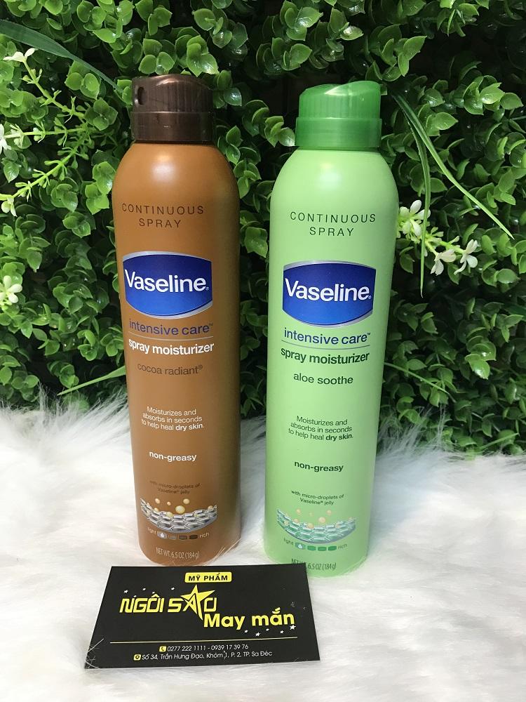Xịt Dưỡng Toàn Thân Vaseline Spray & Go 184g