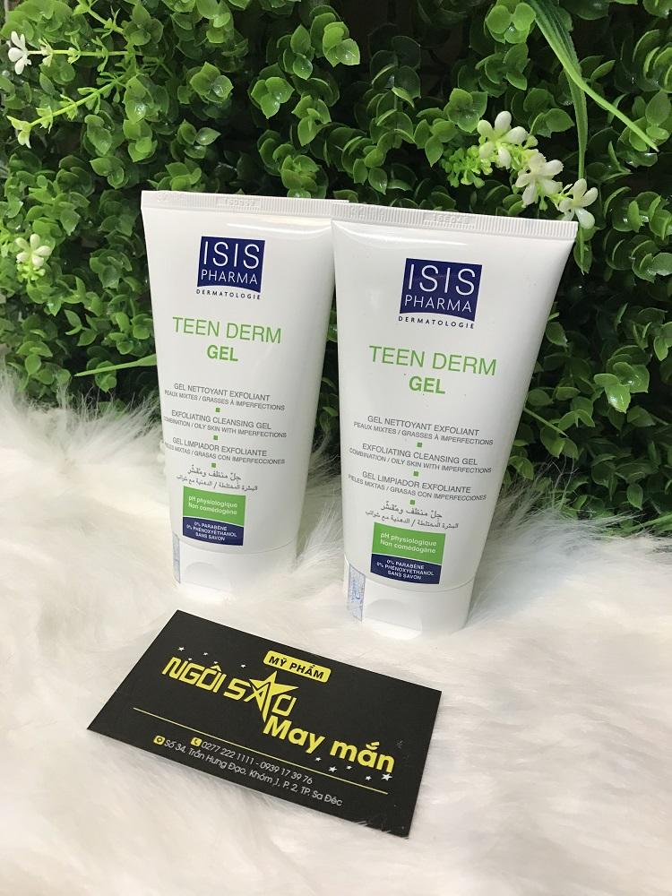 Gel rửa mặt TEEN DERM GEL ISIS giảm nhờn, ngừa mụn
