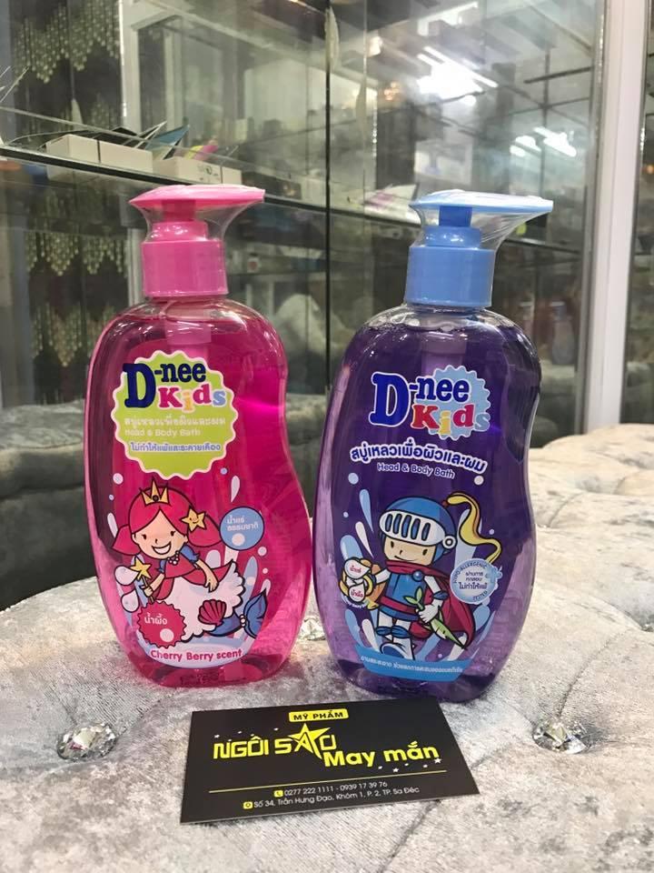 tắm gội toàn thân trẻ em D NEE 400ml Thailand