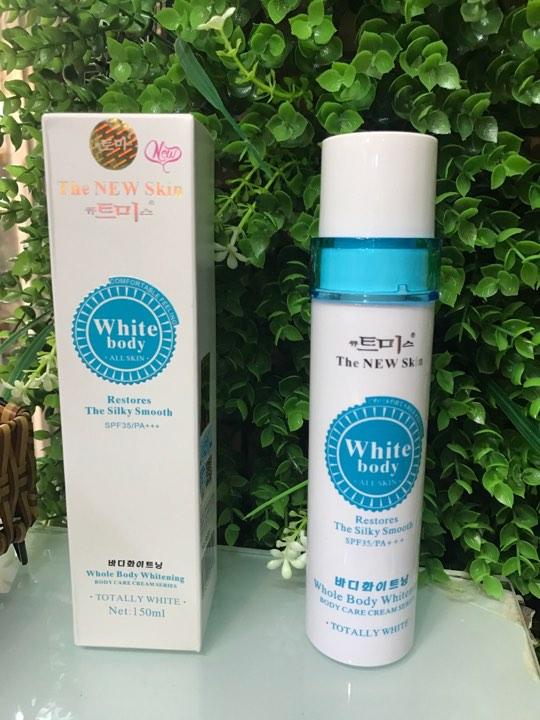 trang điểm body dưỡng trắng white body The New Skin korea