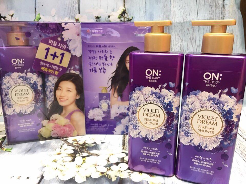bộ 2 chai sữa tắm ON the body 500ml x2