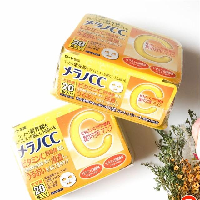 mặt nạ dưỡng trắng cc melano 20 miếng (Nhật)