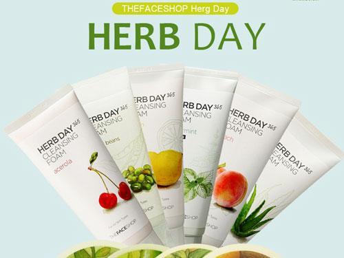 Sữa Rửa Mặt Herb Day 365 Cleansing Foam TheFaceShop