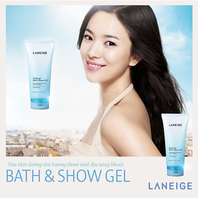 Tuýp sữa tắm dưỡng thể Laneige Perfumed Bath And Shower Gel 100ml