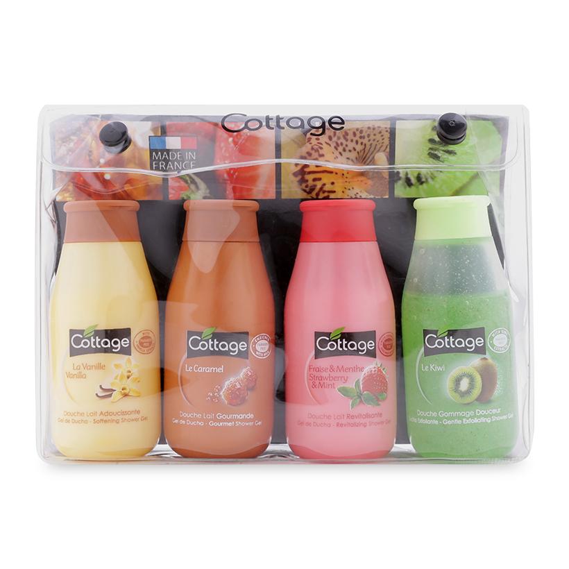 Set 4 chai sữa tắm mini Cottage France 50ml