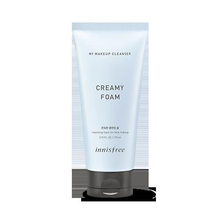 Sữa Rửa Mặt Tạo Bọt Kết Hợp Tẩy Trang Innisfree My Makeup Cleanser Creamy Foam 175ml