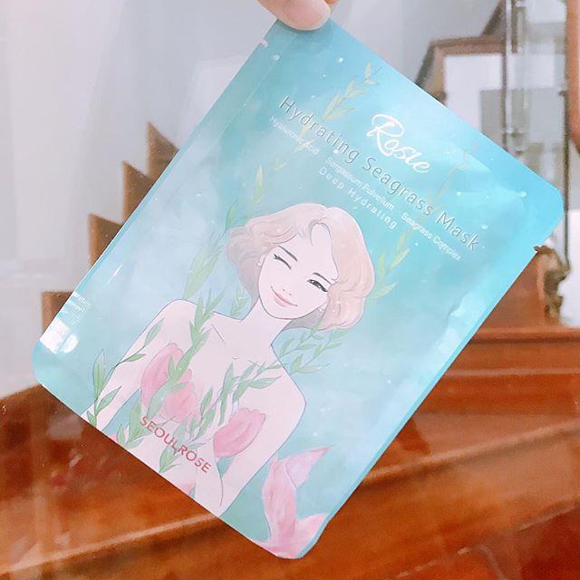 Mặt Nạ SeoulRose Rosie hydrating seagrass mask (mặt nạ nước tảo biển)
