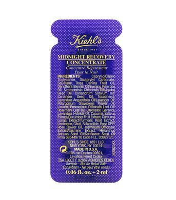 sample serum kiehls midnight recovery concentrate 2ml (phục hồi tái tao da ban đêm)