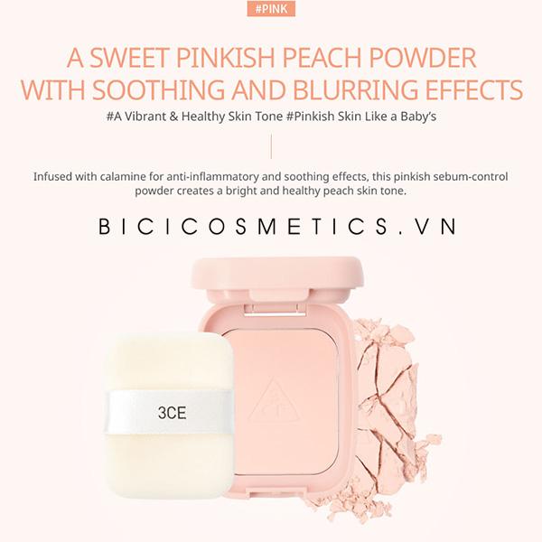phấn phủ 3ce blur sebum powder