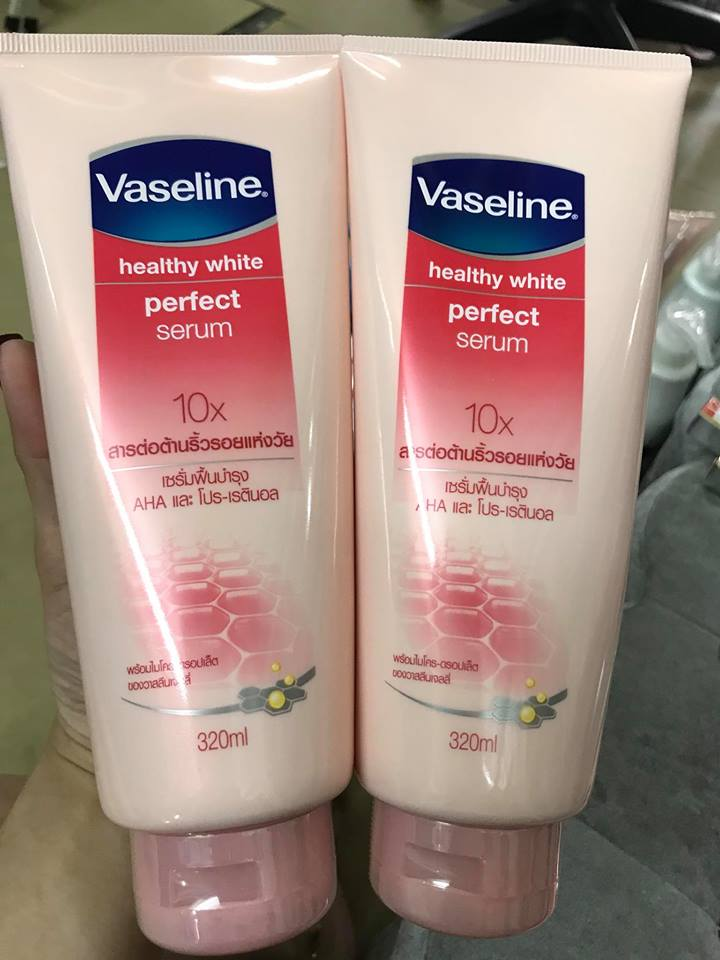 Dưỡng Thể  Vaseline Healthy White Perfect Serum 10X